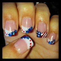 Red, white, and blue, patriotic, flag acrylic nails | Hair ...