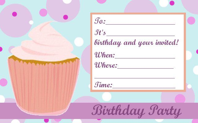 Free Birthday Invitation Template u2013 gangcraftnet - free birthday invitations to print
