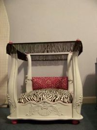 Turn an end table into a dog bed!   Being Crafty   Pinterest