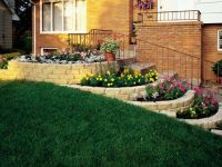 small flower bed retaining wall | dollhouse miniature ...