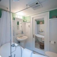 mirrored pocket door | Bathroom Bonanza | Pinterest