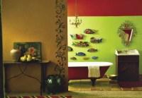 fish decor for bathroom 2017 - Grasscloth Wallpaper