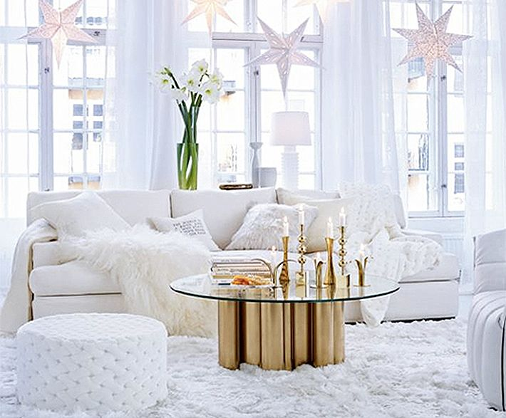 White modern christmas decorations white pinterest