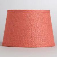 Coral Burlap Accent Lamp Shade | Coral & Aqua Home | Pinterest