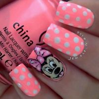 Nail Designs minnie mouse | Nails | Pinterest