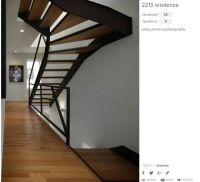 thin open riser with winder | #stairs | Pinterest