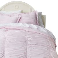 Simply Shabby Chic Rouched Comforter Set - Pink(Full/Queen)