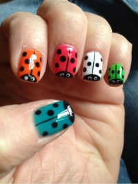 Lady bug nails | Nail Art | Pinterest