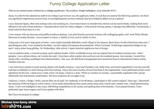 hugh gallaghers college admission essay Hugh gallagher is an author and musician from new york city he is best known  for his satire, including his band von von von, his award-winning satire on the  college application essay, 3a essay, and.