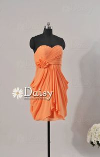 Custom Short Orange Bridesmaid Dress,Orange Women Dresses