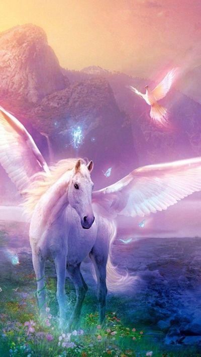 Unicorn iPhone Wallpaper   Color - Glitter Sparkle Glow Colorful   Pi…