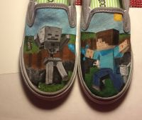 Minecraft shoes | Shoes | Pinterest