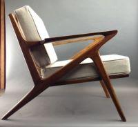 Danish Mid Century Modern Style Teak Lounge Chair - Selig ...