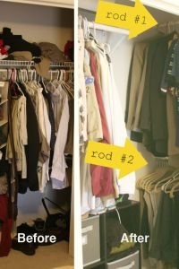 Small Closet Organization - Bedroom Closet Storage Ideas