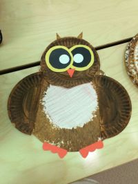 Owl paper plate craft! | Paper Plate Crafts | Pinterest
