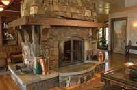 Pin by Rick Bloxom on Log Home - Fireplaces | Pinterest