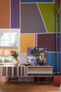 multi-colored wall | Decor | Pinterest