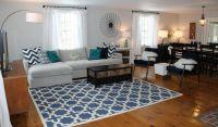 Navy Grey Living Room