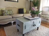 Cool idea for a old trunk! | Craft and repurposing ideas ...