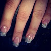 Acrylic Nails With Glitter Tips   www.imgkid.com - The ...