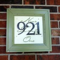 unique house number   crafts   Pinterest