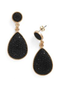 Droplet Like It's Haute Earrings in Black