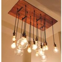 Edison light chandelier   New Home Decor   Pinterest