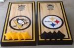 Steelers Cornhole Boards Penguins