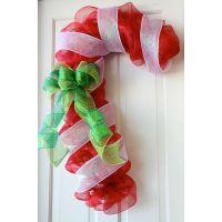 Candy Cane Christmas Door Decoration. | Christmas program ...