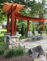 Pergola & Fire Pit = Patio | Gardening | Pinterest