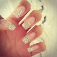 #Glitter fake nails | Panda: nails | Pinterest