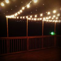 Outdoor deck string lights DIY | Home | Pinterest