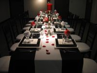 Black white and red table setting 5 | My 40th birthday ...