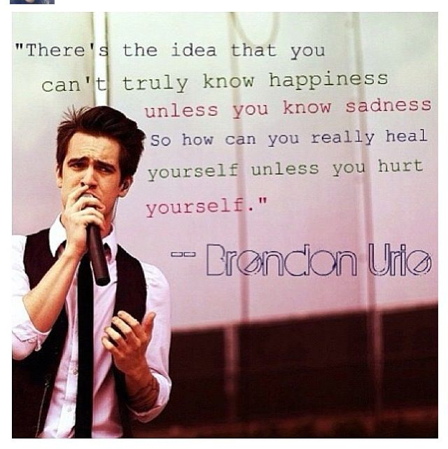 Best Meaningful Quotes Wallpapers Brendon Urie Quotes Quotesgram