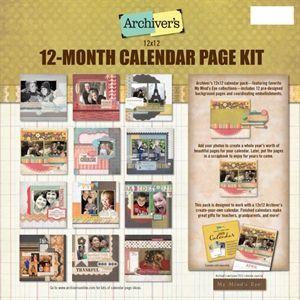 English Calendar Kits Footy Headlines 12x12 Calendar Page Kit Scrapbook Shopping Pinterest