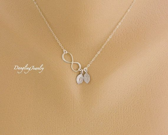 Monogram Two Initials Infinity Necklace Make A Great