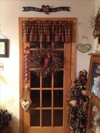 Primitive country rustic door decor | Primitive decor ...