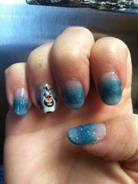 Disneys Frozen Inspired Olaf Nail Art Spoonful | Party ...
