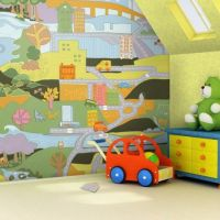 Maps Wall Painting Ideas for Kids Bedroom Walls Design ...