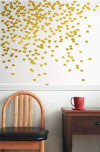 vinyl wall decal sticker art decal Gold vinyl decal - Gold ...