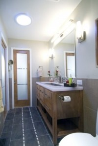 bathroom configuration and floor tile | Kate's place ...