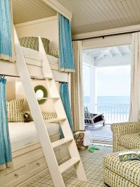 Bunk beds with privacy curtains | House | Pinterest