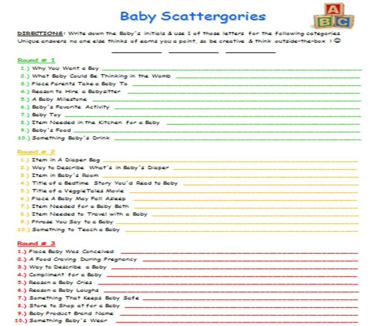 Baby Shower Template Word – Baby Shower Agenda Template