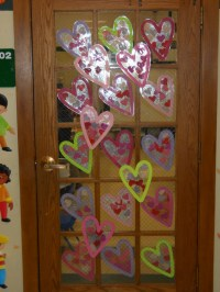 door decoration for february | just b.CAUSE