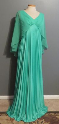 Vintage 70s Disco Prom Dress Gown