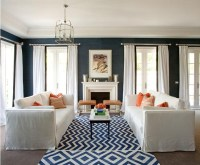 Coral and navy living room | Favorite Places and Spaces ...