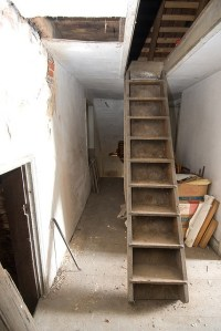 pull-down stairs by jeklee. | attic. | Pinterest