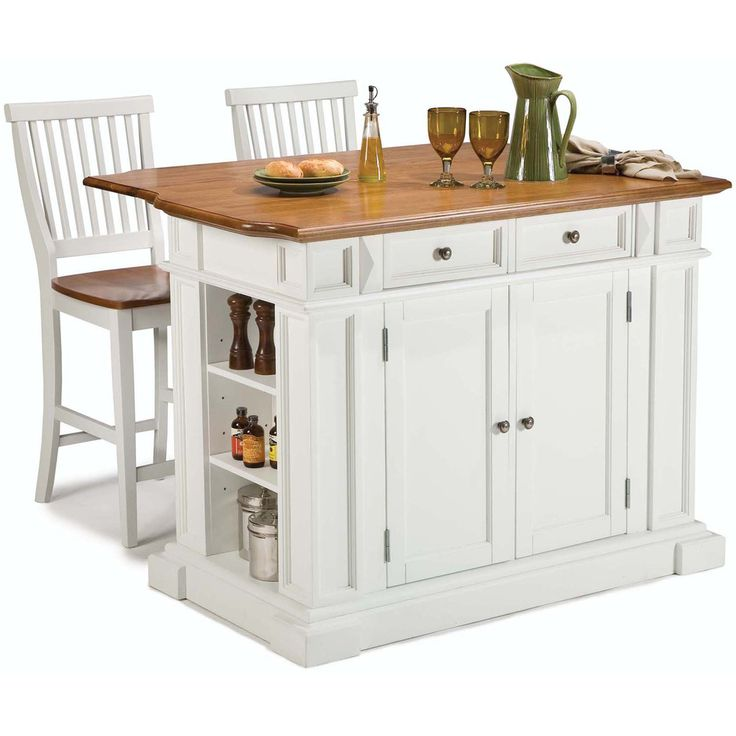 Overstock Kitchen Island White Distressed Oak Kitchen Island And Bar Stools