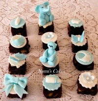 Yummy brownies with baby shower toppers | Nami's Cakes ...