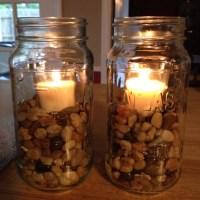 Mason Jar Candle holder   DIY & Crafts   Pinterest